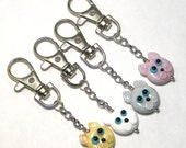 MADE TO ORDER:  Adorable Kitty Cat Planner Charm by Starlight Designs Choice of Colors! Keychain Zipper Charms Cat Charm Kitty Charm