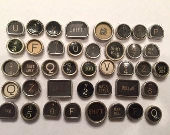 Vintage TYPEWRITER Keys Lot 40 Keys Lot 1