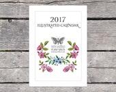 2017 Monthly Nature Wall Calendar 6x8