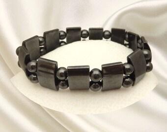 Magnetic Energy Hematite Beaded Bracelet