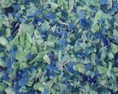 Destash Glass Frit Blend Blue Thunder Bead Goodies COE 96 Blue Sea Green 0.9 oz Bag