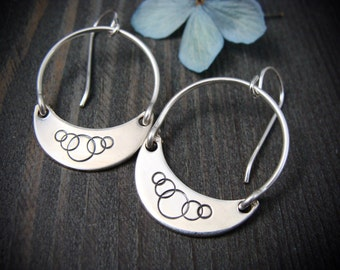 circlet.. sterling silver dangles