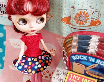 SUMMER SALE   Fifties Sweater Girl and  Circle Skirt Rock n Roll Jive Set - Red