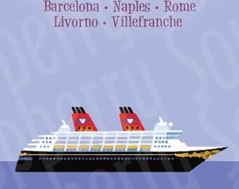 Disney Magic Mediterranean Cruise Magnet 5x7
