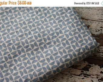 40% FLASH SALE- Blue Geometric Fabric-Reclaimed Bed Linens Fabric