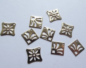 On Sale Vintage gold plated charms