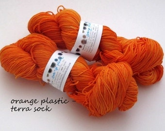 orange plastic  - terra sock (out of stock, available as dyed to order)