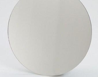 5 inch - ROUND CIRCLE GLASS Mirror .mosaic tile focal