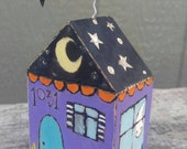 halloween...mixed media sweetly spooky haunted house