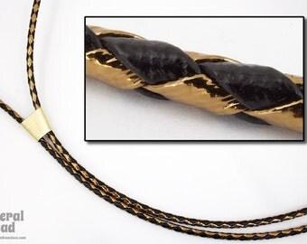 """36"""" Black/Metallic Bronze Bolo Cord (2 Pcs) #BOLO37"""