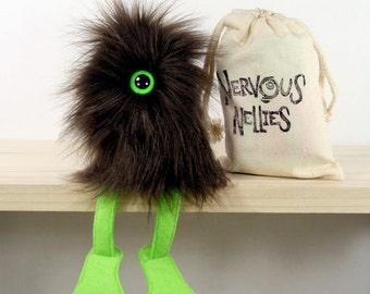 Nervous Nelly Plush Monster Toy- Brown