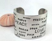 Peace - Love Custom Bracelet for Danielle