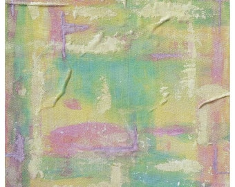 Beautiful, Fragile and Unique - 14x14 inch Original Mixed Media Abstract Painting on Canvas.