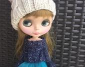 Babydoll sweater for Blythe-deep blue/sapphire