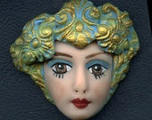 Polymer Clay One of a Kind Detailed  Face  AOOAK 2