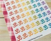 Om Symbol Stickers for Erin Condren Plum Paper Happy Planner (ID526)