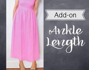 Add-on to customize dress to be Ankle Length - Custom Bridesmaid, Formal
