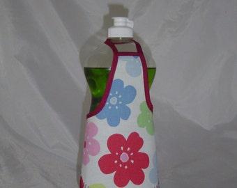 Flower Kitchen Decor Dish Soap Apron Bottle Cover Wrap Staffer Party Favor Lg