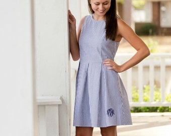 Seersucker dress - Etsy