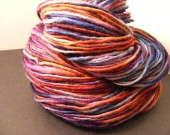 TOMORROWLAND...handspun, handpainted wool/mohair yarn...4oz...180yd