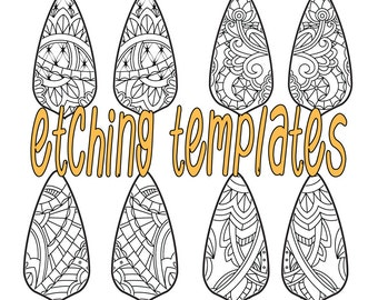 Digital Pattern for Etching Tear Drop Earrings Download DP-8865