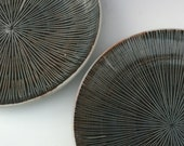 Dinner Plates - Carved Plates - Serving Plates - Set of 2 Plates - READY TO SHIP