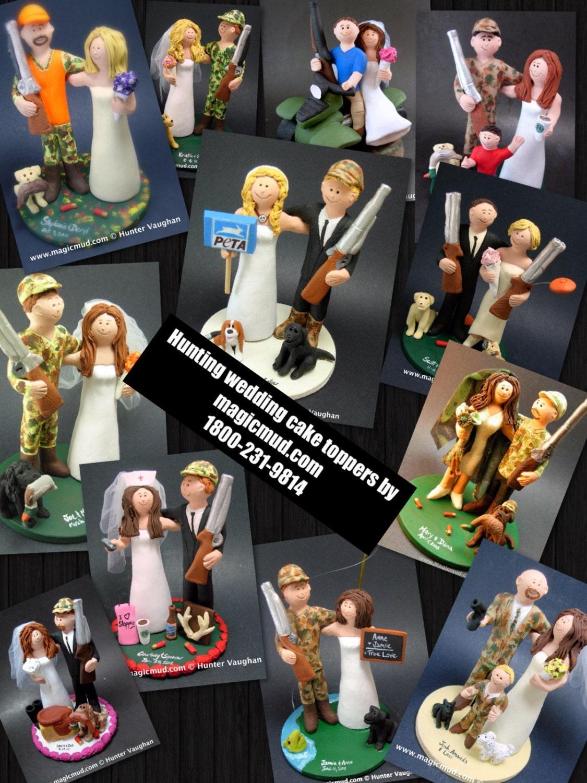 Shotgun Wedding Cake Topper Hunters Wedding by