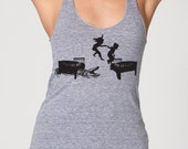 HOT LAVA - Womens Tri-Blend Racerback American Apparel Tank Top - alligator-game