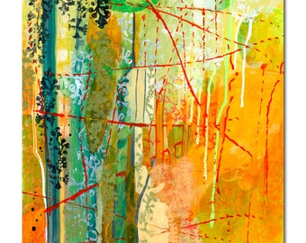 Our Paths Will Cross - Abstract ORIGINAL Painting, 20x26 by JENLO