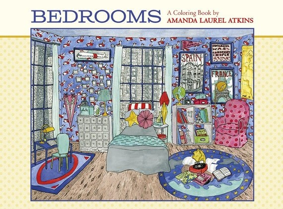 Bedrooms Coloring Book by Amanda Laurel Atkins