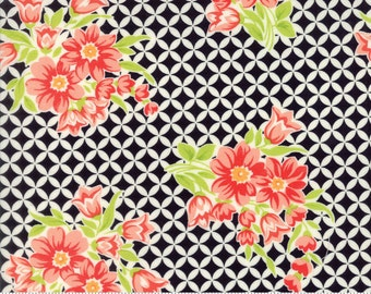 Handmade - Gwendolyn in Black: sku 55146-17 cotton quilting fabric by Bonnie and Camille for Moda Fabrics - 1 yard