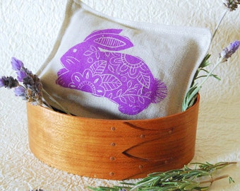 Organic Lavender Sachet -Purple Bunny