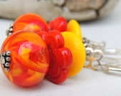HOT HOT HOT Handmade Lampwork Bead Dangle Earrings