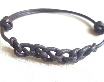 Men's Decorative Leather Bracelet