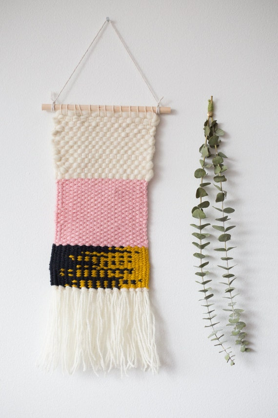 Heck Yes - One of a Kind Handmade Weaving by Jackie Dives