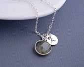 Labradorite Necklace, Personalized Labradorite Necklace, Sterling Silver Necklace, Gift for Friend
