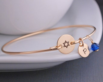 Star of David Jewelry, Bat Mitzvah Gift, Star of david Bracelet, Jewish Jewelry
