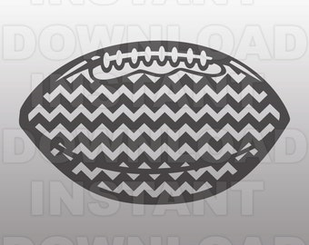 Chevron Football SVG File -Personal & Commercial Use- cricut svg,silhouette svg,svg cuts,vector svg,vinyl files,tshirt svg
