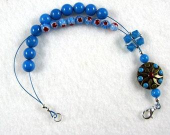 Millefiori Madness Row Counter Abacus Bracelet  - Item No. 982