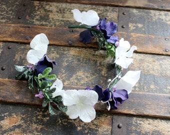 Caroling Faerie Flower Crown - Wreath - Tiara - Headband