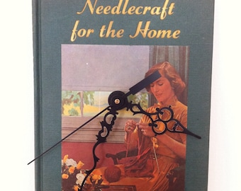 Needlecraft For the Home Upcycled Book Clock