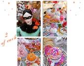 Fanciful Autumn Festivities  - 8 Assorted Postcard Set