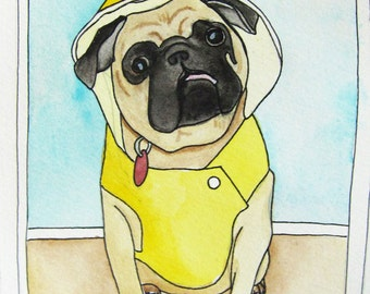 Custom Pet Portrait Illustration - Pet Portraits - Pet Art - Custom Art - Pet Watercolor Painting - Custom Pet Painting