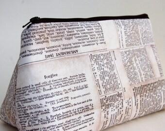 Flat Bottomed Pouch-Newsprint Fabric