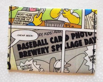 Recycled Comic Book wallet, card holder, comic wallet, paper wallet, thin wallet