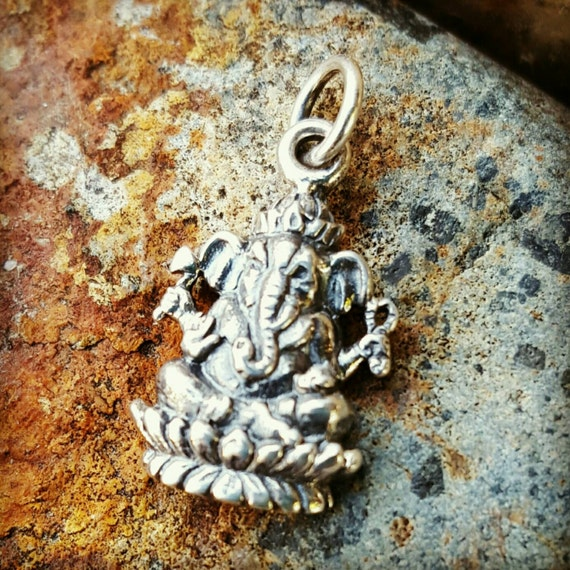 Ganesh Charm - Ganesh Necklace Yoga Jewelry - Remover of Obstacles - Elephant God
