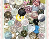 Vintage Buttons and Buckles Graphics transparent PNG