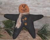 Individually Priced - One Pumpkin Headed Halloween Fall Season Orange & Black Star Ornie Ornament Bowl Filler Cupboard Tuck