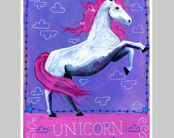 Animal Totem Print - Unicorn