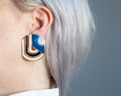 after image cut out graphic earrings / art deco earrings / 746a